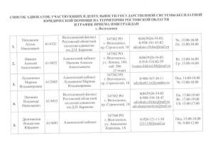 Список адвокатов